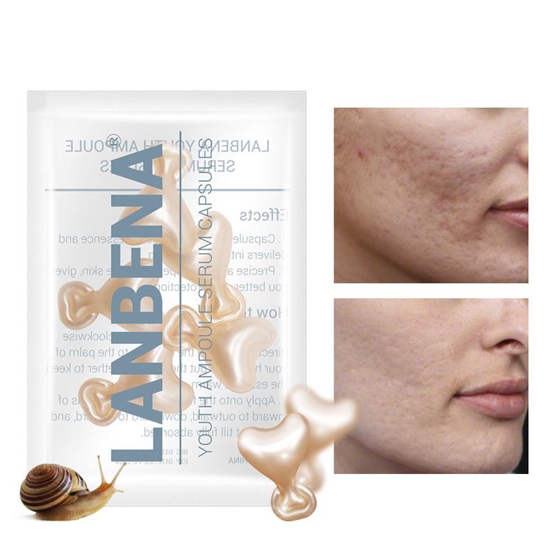 10/90pcs Snail Vitamin C Face Serum Anti-Wrinkle Whitening Anti Aging Moisturizing Skin Care Vitamin C Capsules Lifting Firming