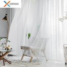 Прозрачные Занавески для гостиной тюлевые занавески с листьями