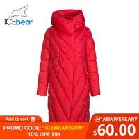 ICEbear 2019 new winter long women's down jacket fashion warm women's jacket brand women's clothing GWD19149I