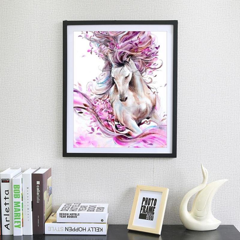 Красочная лошадь 5D алмазная вышивка DIY Вышивка крестиком картины интерьерные для гостиной|Алмазная роспись, вышивка крестом|   | АлиЭкспресс