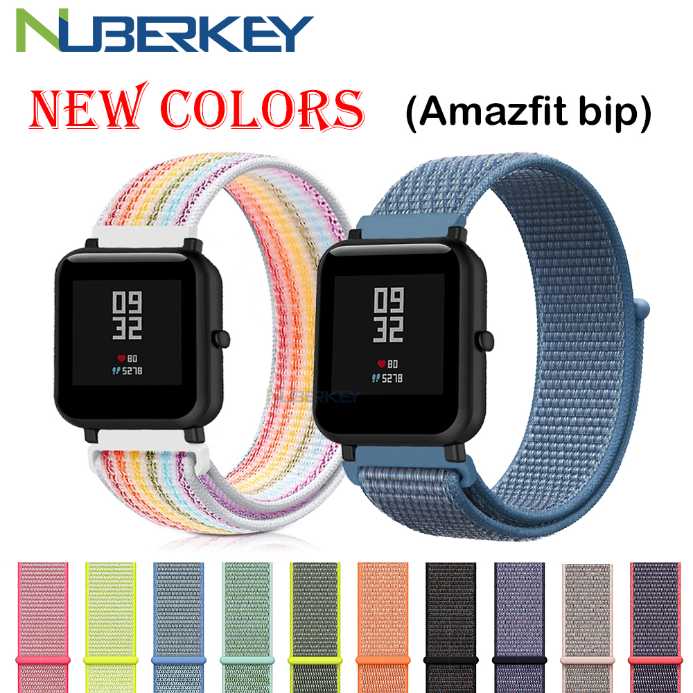 Nylon Loop Woven Strap For Xiaomi Amazfit Bip Strap Watch Band For Huami Amazfit Bip BIT PACE Lite Youth Smart Watch Bracelet
