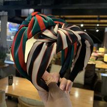 Шелковая полоса печать повязки с узелком для женщин из кусков
