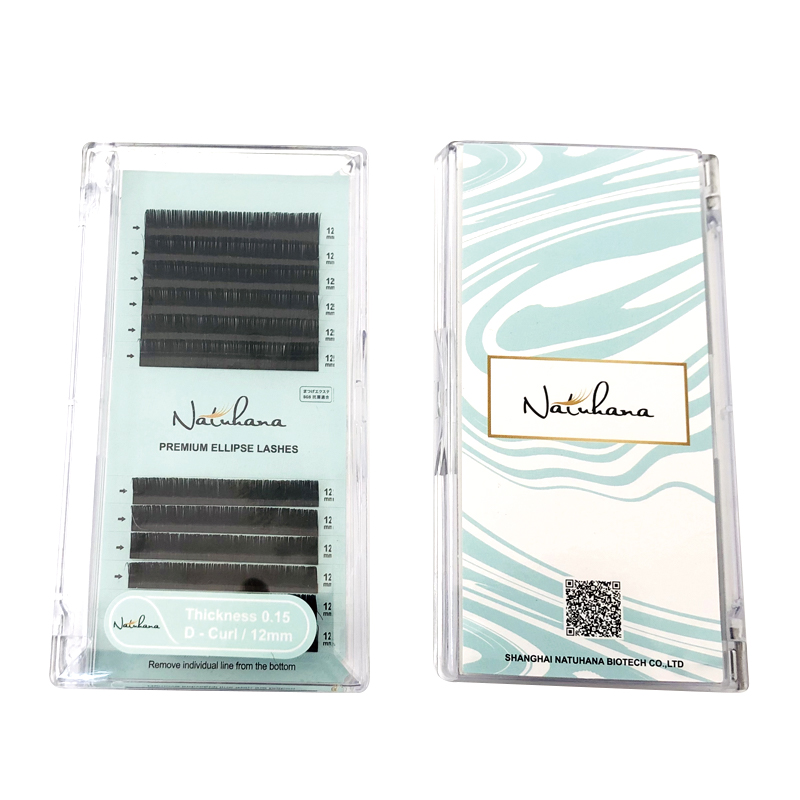 Closeout Deals─NATUHANA Matte Mink Extension False-Lashes Soft-Cilios Flat Individual 50cases/Lot Split-TipsÜ