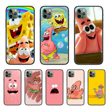 Patrick Star Патрик باتريك Phone Case cover For Iphone 11 7 8 XR 5 5C 5S 6 6S PLUS X XS PRO SE 2020 MAX black bumper 3D image