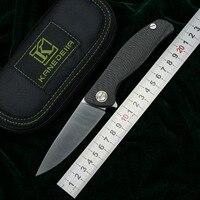 Kanedeiia f3 flipper faca dobrável m390 lâmina de titânio fibra carbono lidar com acampamento caça sobrevivência bolso facas frutas ferramenta edc|Facas| |  -