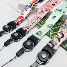 Lanyard key cartoon character bandage ID gym mobile phone for iphone millet with USB badge clip DIY shell lanya