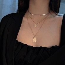 YUN RUO Vintage Coin Multilayer Pendant Necklace Fashion Ros