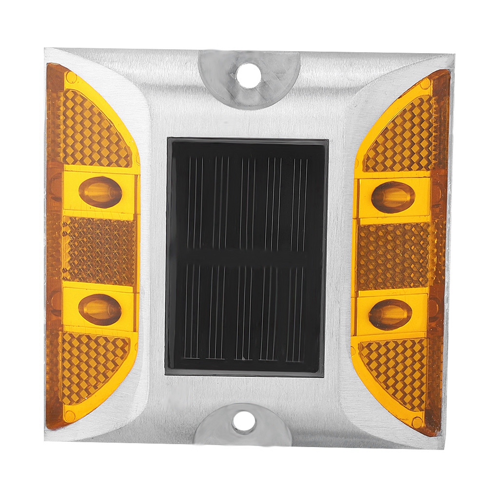 Outdoor Solar Powered Road Stud Light Automatic Charging Waterproof Casting Aluminum LED Lamp​​ For Pathway Road Free Shipping