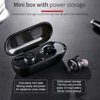 Langsdom F206 True Wireless Earbuds TWS Bluetooth 5.0 Earphone Portable Bass Stereo Dual Sports Headset with mic Charging Box UM