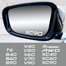 Autocollant de garniture de rétroviseur pour poignée de porte de voiture, 4 pièces, pour Volvo Rdesign T6 AWD S40 S60 S90 XC40 XC 60 XC90 V40 V50 V60 V70 V90