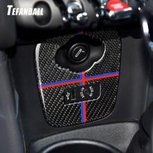 Car Interior Carbon Fiber Cigarette Lighter USB AUX Panel Console Cover Sticker for Mini Cooper JCW F55 F56 Styling Accessories недорого