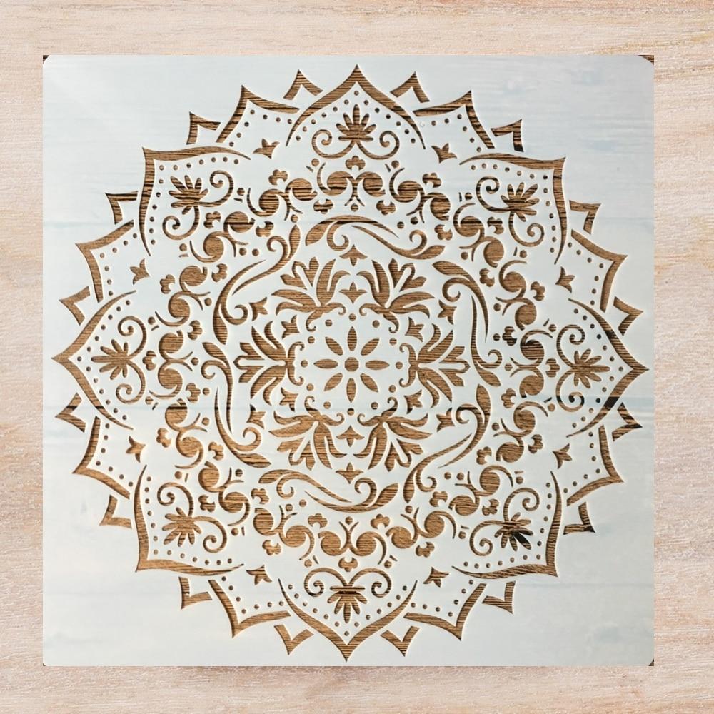 30*30cm Mandala Layered Geometry DIY Layering Stencils Painting Scrapbook Coloring Embossing Album Decorative Template