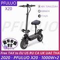 2020 PFULUO X20 Dual Motor 48V 2000W Elektrische Roller mit Sitz 2 rad Off-straße skateboard 60 km/h Max Geschwindigkeit hoverboard