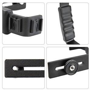 Image 2 - Diodo emissor de luz microfone tripé handheld aperto da mão montagem + sapato quente para dji osmo handheld estabilizador kit osmo móvel 4 3 acessórios