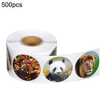 500pcs Animal Stickers Jungle Party Birthday Decorations Personality Label With Decorative Labels On Walls
