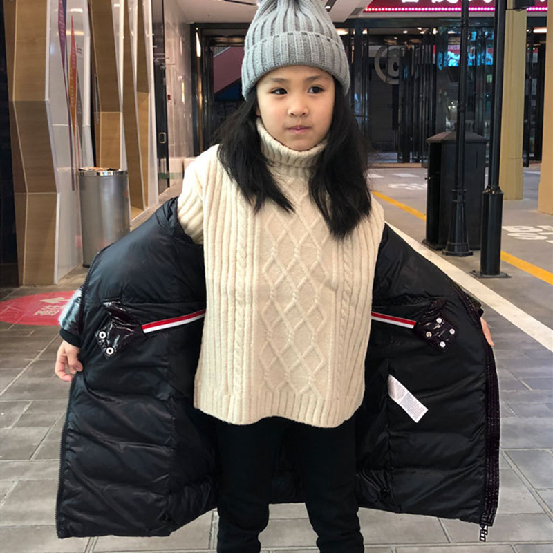 Winter Children down jackets Classic long fur collar keep warm girls down coats For 2 12 Years wear kids down parkas clothing in Down Parkas from Mother Kids