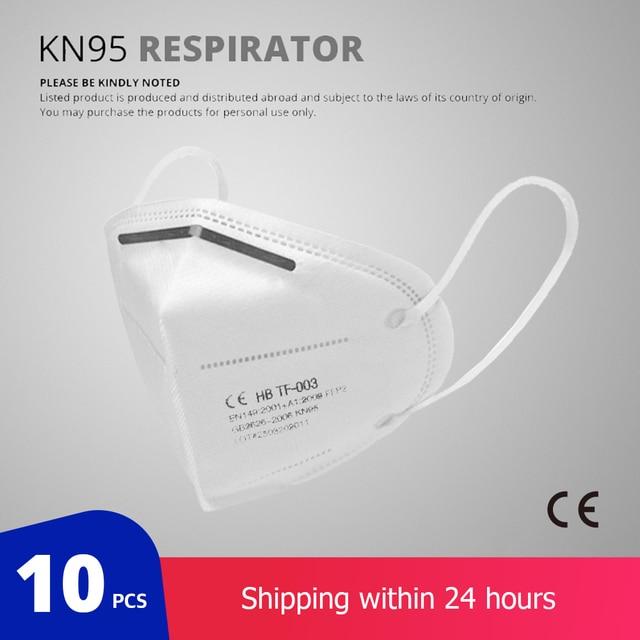 KN95 Dust Respirator Face Masks (10 Pack)