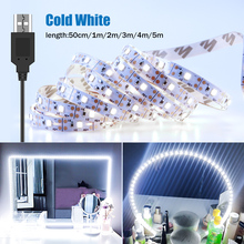 Световая лента для зеркала для макияжа, 5 м, USB 5 В