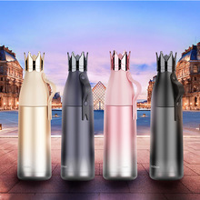 Gourde Water-Bottle-Botella Inox Termica Vacuum-Flask Personalize Garrafa Crown Creative