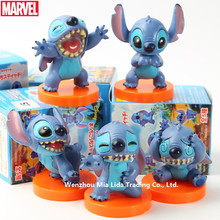 Hasbro Lilo & Stitch 5pcs/set Five cute expressions Doll Model toys
