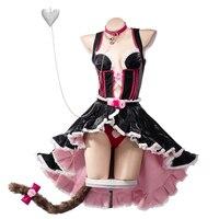 Pre sale Uwowo 2019 New Anime NEKOPARA Cat Paradise Chocolate Lovely Maid Dress Uniform Cosplay Costume Halloween For Women