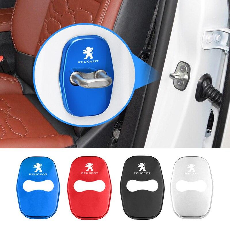 4 шт., металлические пряжки для дверного замка Peugeot 206 307 308 3008 207 208 407 508 2008 5008 107 106 205
