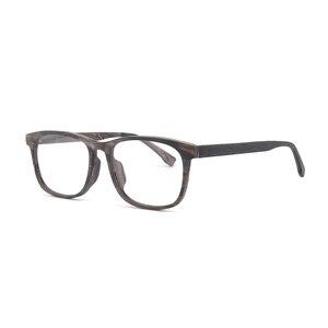 Image 4 - HDCRAFTER وصفة النظارات الإطار الرجال والنساء خشبية الموضة الرجعية النظارات البصرية النظارات إطار نظارات