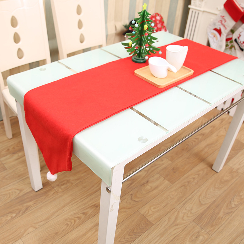 Christmas No-weaven Cloth Tablecloth Runners Kitchen Washable Dining Table Mats Xams Party Ornaments Navidad Home Decorations