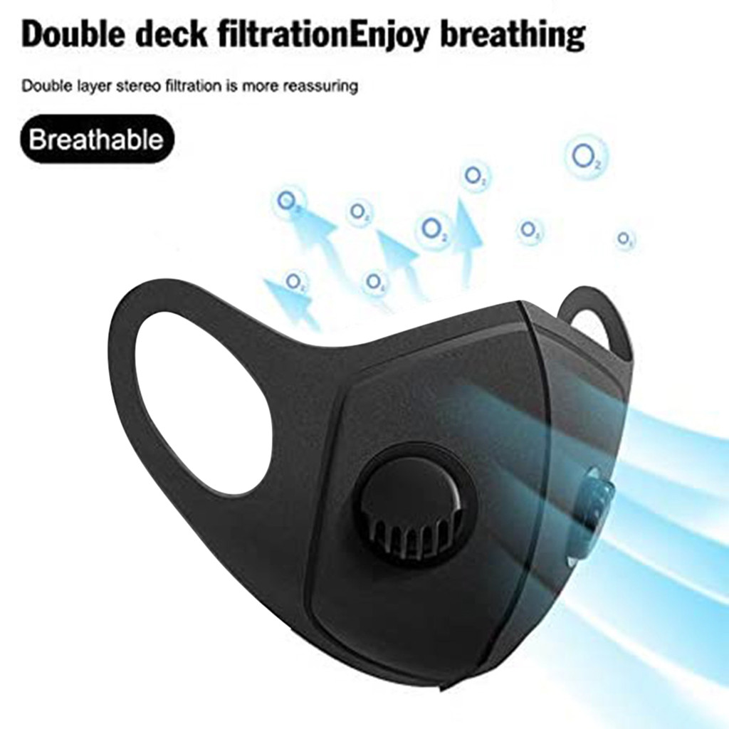 Adult Reusable Dustproof Mask Activated Carbon PM2.5 Protection Dust Mask With Valve Windproof Foggy Haze Pollution Respirator Cycling Face Mask    - AliExpress