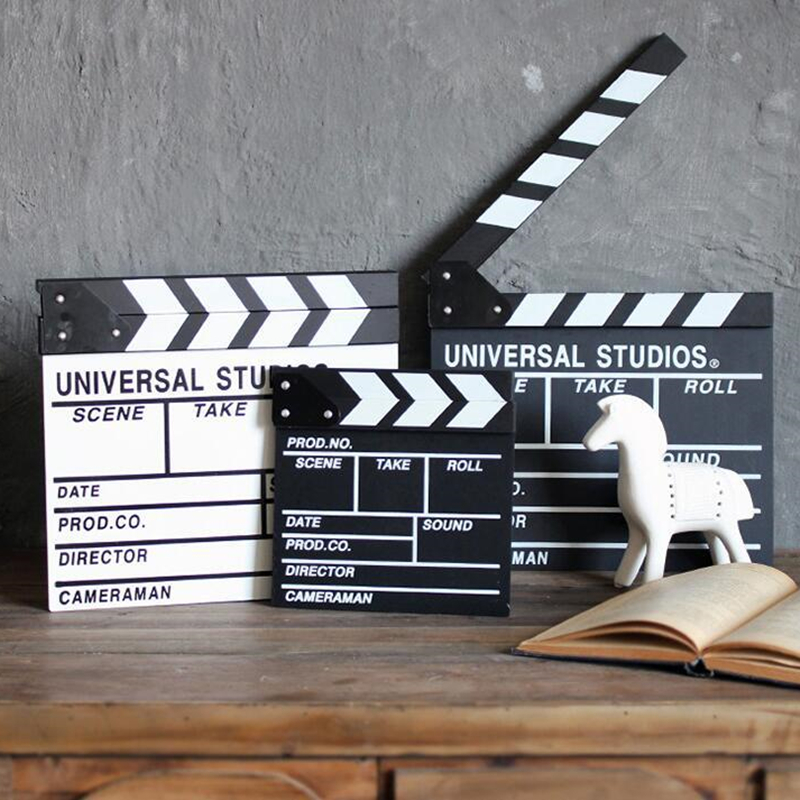 1 Pcs Director Video Scene Clapperboard Clapper Board Dry Erase Director TV Movie Clip Film Action Slate Clap Handmade Cut Prop