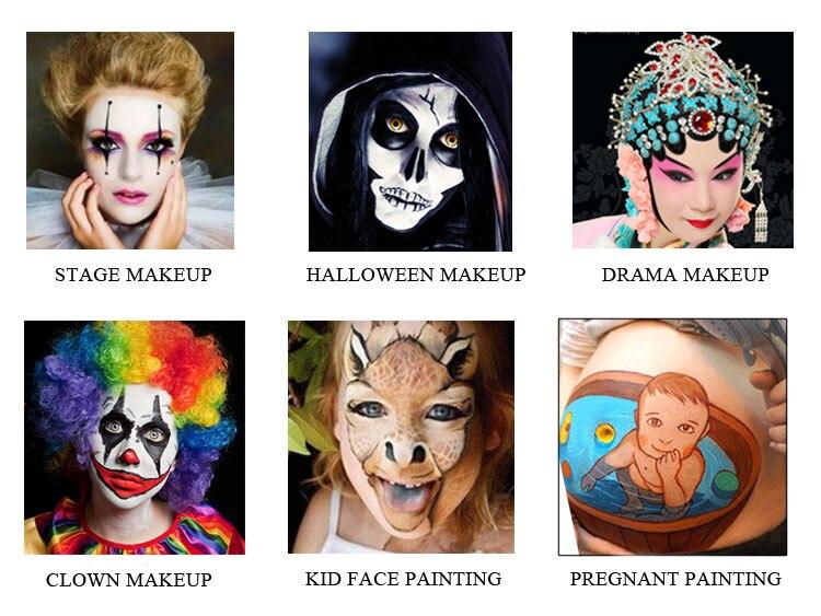 Купить с кэшбэком OPHIR 30g Rainbow  Body Paint Pigment Ink Neon Fluorescent Maquiagem Makeup Drawing for Halloween DIY  Face Painting  RT011