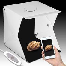 Led ライト 40 × 40 × 40 センチメートルフォトスタジオ Photobox 背景には、内蔵光のフォトボックスアイテム写真撮影 led ライトボックス