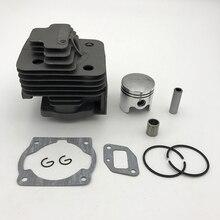 Conjunto de cilindro 40mm e 44mm, kit de pistão de caça 43cc 52cc 144f 5 44f 5 44 5 bg520 g520 g430 40f 5 peças do aparador de rebuled 40 5