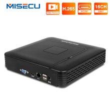 Misecu h.265 mini nvr max 5mp saída cctv nvr 16ch 5mp segurança gravador de vídeo h.265 detecção de movimento onvif p2p acesso remoto