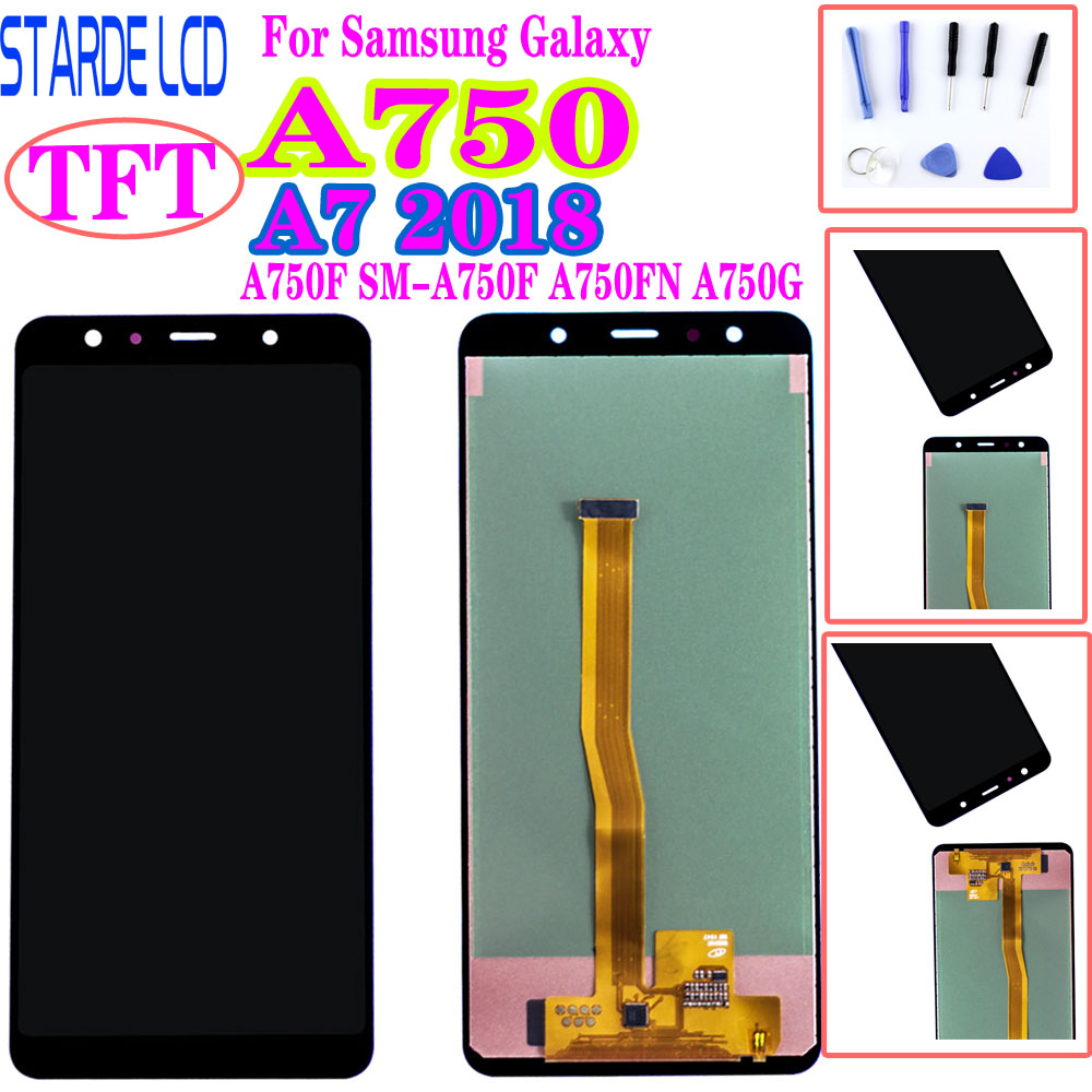 AAA+Screen Replacement For <font><b>Samsung</b></font> Galaxy A7 2018 <font><b>A750</b></font> A750F SM-A750F A750FN A750G <font><b>LCD</b></font> Display Touch Screen Digitizer Assembly image