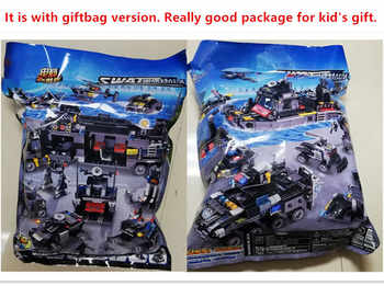 695Pcs City SWAT Police Truck Ship Model LegoINGLs Technic Building Blocks Sets Playmobil Juguetes Kids Bricks Toys for Children
