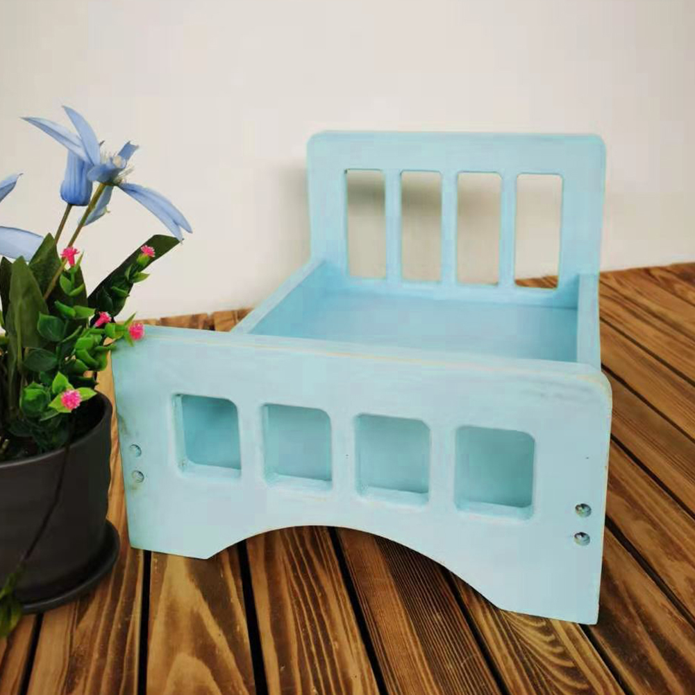 Shooting Vintage Studio Portable Baby Photography Bed Posing Props Accessories Small Crib Background Wooden Cot Cute Newborn