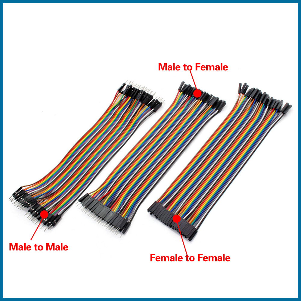 S ROBOT Cable Dupont Jumper Wire Dupont 20CM Male To Male + Female To Male + Female To Female Dupont Cable RPI155