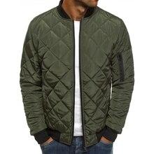 ZOGAA Men's Coats 2020 Fashion Warm Casual Zipper Plaid Jackets Men Solid Spring