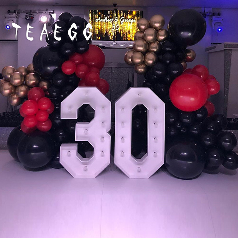 Black Gold And Red Birthday Party Decorations  from ae01.alicdn.com