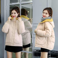 2019 new fashioncoat edition loose new feather women students cotton-padded clothes cotton bread suit jacket