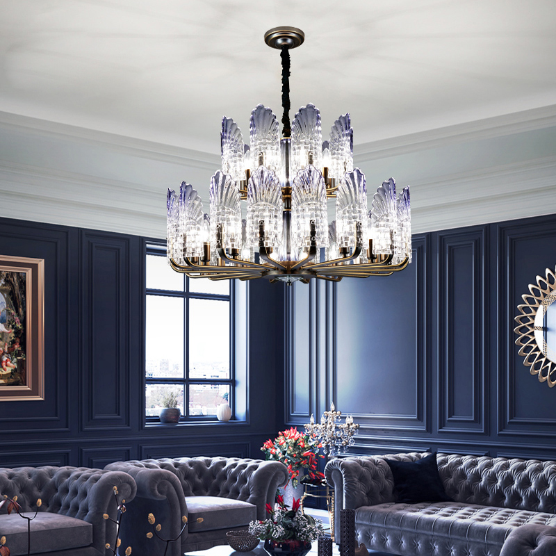 Modern Peacock Glass Led Chandelier Lighting Metal Living Room Led Pendant Chandelier Light Dining Room Hanging Lamp Fixtures|Chandeliers| |  - title=
