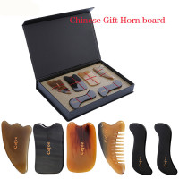 Cofoe 6 PCS Skin Facial Head Body Care Treatment Slimming Massage GUASHA Board Comb Scraping Scraper Massager Tool Set GIFT