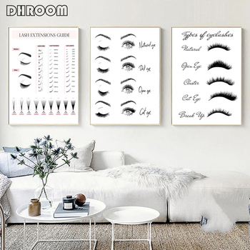 Modern Fashion Canvas Painting Lash Extensions Technician Guide Poster and Prints Makeup Wall Art Picture Salon Decor Girls Gift sakhalin and kurils modern guide
