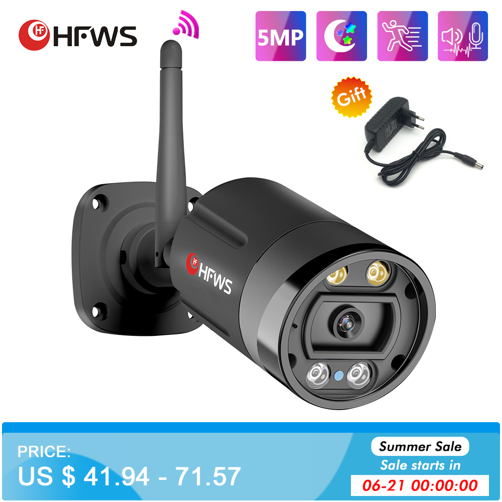HFWS  Ip Camera Wifi H.265 5MP HD Outdoor Wireless Night Vision Video Security CCTV Surveillance Cameras With Wifi