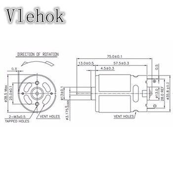 12 Teeth RS550 7.2V 9.6V 10.8V 14V 21.6V 24V 25V Motor For CHINA LONGYUN FOGO GEMAISI CAVANI  Cordless Drill Driver Screwdriver