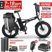 ALFINA FX20 Vélo Électrique 48V15AH 500W 40Km/H Neige Pliante VTT Plage Bicicleta Eletrica Ville ebike livraison gratuite