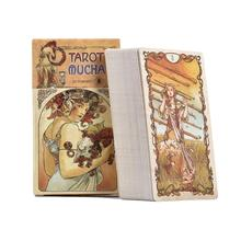 NEW 78 PCS Tarot Mucha Cards Table Deck Board Game Card For Family Gathering Party Playing Games