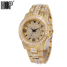 Hip Hop Luxury Mens Iced Out CZ Waterproof Watches Date Quar