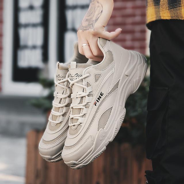Original Men Running Shoes Sneakers Disruptor 2 White Sneakers Cushioning Platform Breathable Athletic Sports Triple-S Walking